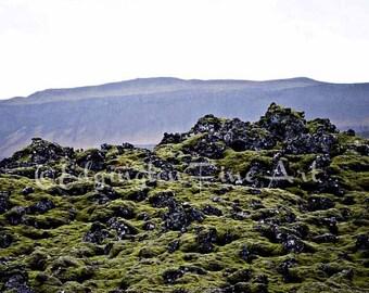 Iceland Wall Art Moss Print Iceland Landscape Nature Photography Iceland Photo Iceland Photo Art Nature Print Iceland Travel Print Lava Moss