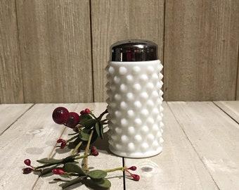 Fenton Hobnail Milk Glass Salt & Pepper Shaker (1)
