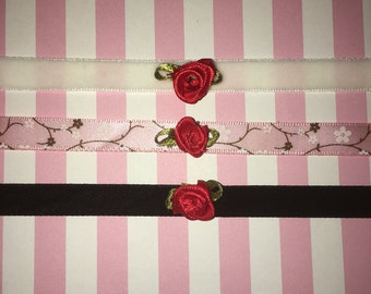 Choker with Red Rose