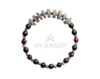 Amber Glass Shellstone Bracelet, Amber Bracelet, Baltic Amber Bracelet, Glass Bracelet, Shellstone Bracelet, K8117