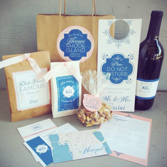 Gift Bag Ideas For Wedding Guests: Wedding Guest Welcome Bag With Paper Bag & Accessories 10