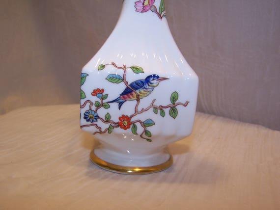 Aynsley Pembroke Vase Phoenix Bird Roses