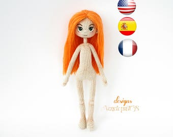 "Pattern ""Doll Alex"", amigurumi crochet doll, crochet doll pattern, amugurumi pattern, pdf pattern"