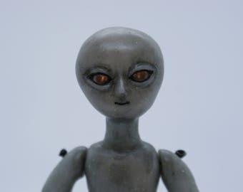 Frankenfield the Alien, Art Doll, OOAK