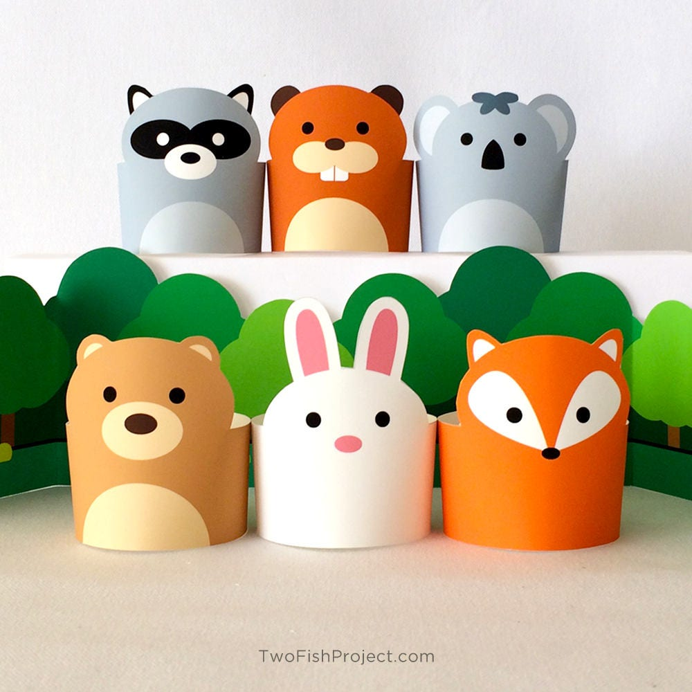 Paper Craft Animals Pretend Play Toys For Kids Diy Forest