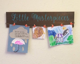 Little Masterpieces - artwork display - hand painted sign