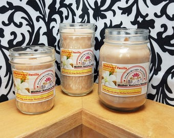 Sandalwood Vanilla - 100% Soy Wood Wick Candles