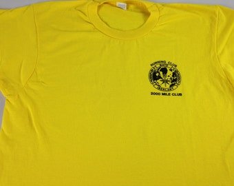 Nato Iberlant Running 2000 Mile Club T-Shirt Adult SZ M/L Ireland Yellow Tee