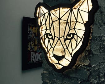 Bright graphic Panther wooden