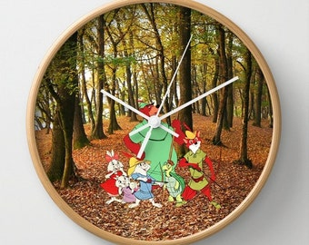 "10"" Disney's Robin Hood Wall Clock"