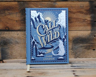 Hollow Book Safe - The Call of the Wild - Blue Leather Bound Book Safe