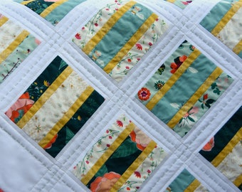 Cookie and Cream - digital quilt pattern - a fat quarter friendly pattern in baby and lap sizes