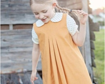 Primary Pinafore and Blouse Ellie Inspired PDF Girl Pattern Size 1 - Size 16