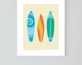 Surfboard digital print, Surf print, 8x10 print, beach wall art, beach print, beach decoration, wall decor