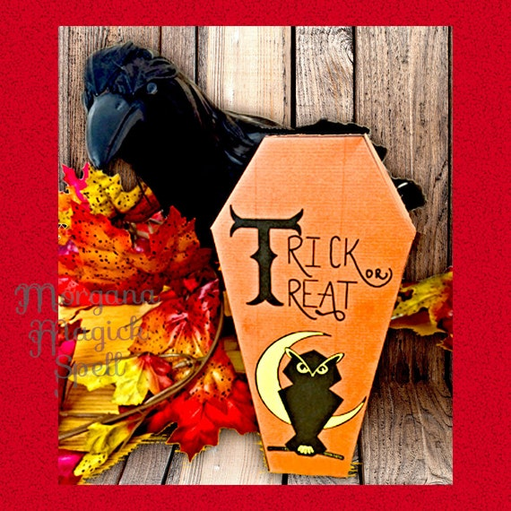 Coffin Box - Printable Trick or Treat Box