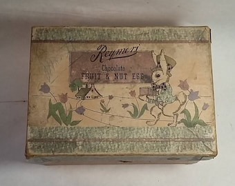 Vintage Reymer's Candies Easter Egg Box, Easter Bunny, Pittsburgh, Pa.