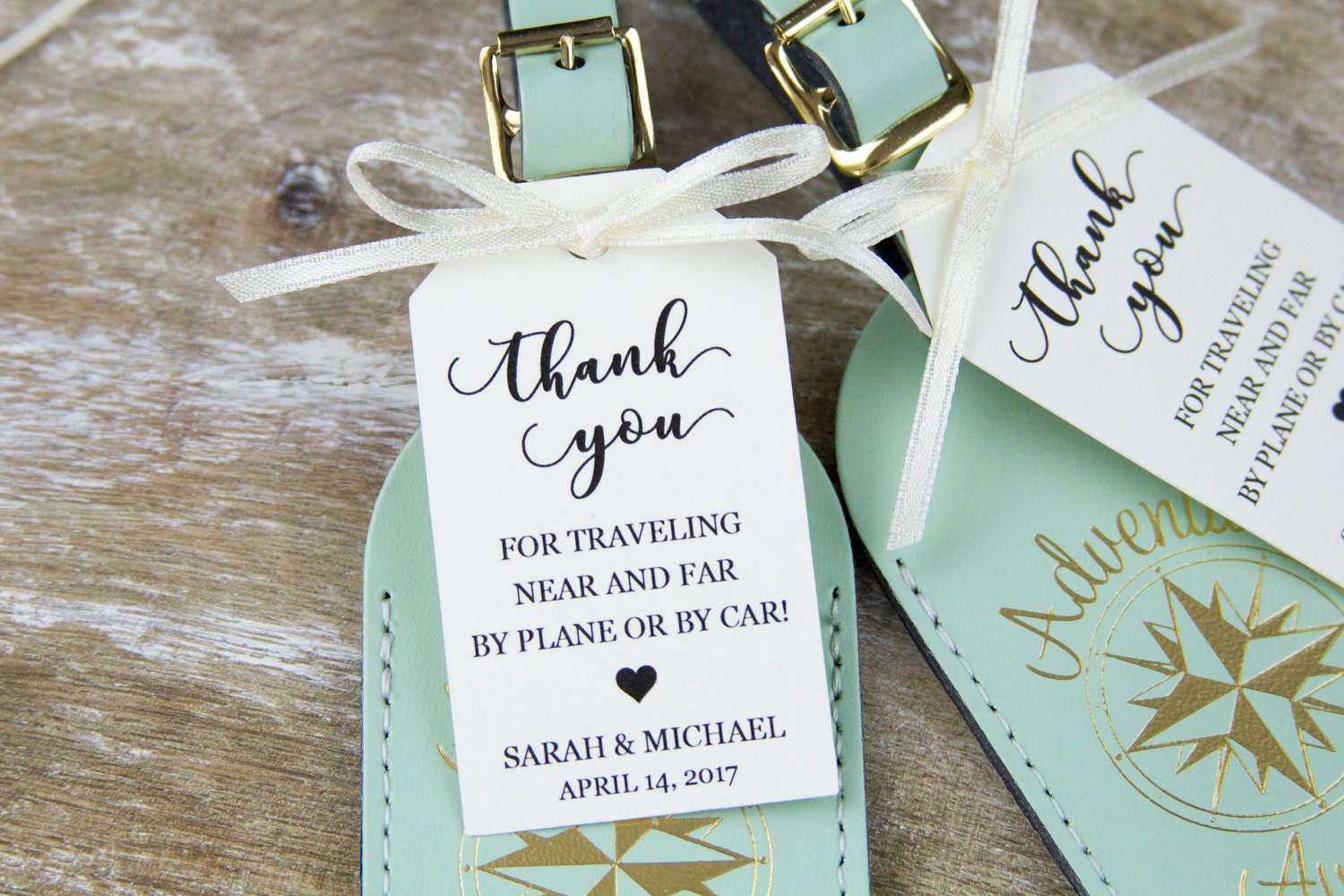 Thank You Tag Wedding Favor Tag Luggage Favor Tag