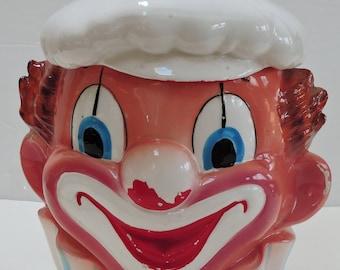 Vintage Clown Cookie Jar,Clown Collector,Circus Memorabilia,NARCO