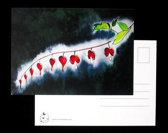 Flower Hearts - postcard