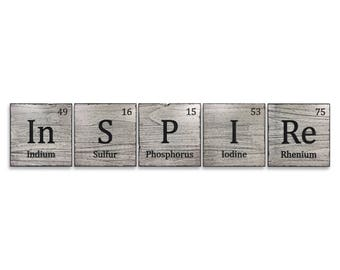 Classroom Sign, Science Lab, Gift for Teacher, Periodic Table Elements, Biology, Chemistry, Carved Name Sign, Laboratory Decor, Carved, Wood