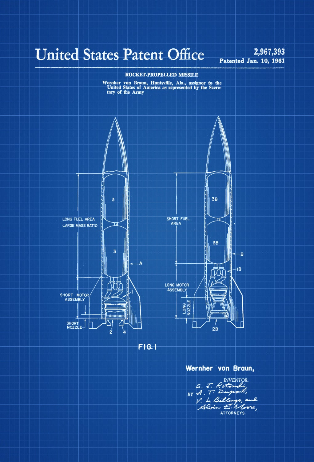 Missile patent print space art space poster space program request a custom order and have something made just for you malvernweather Choice Image
