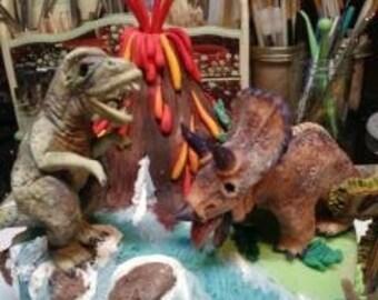 De gâteau dinosaurios / Dinosaurio centro de gâteau