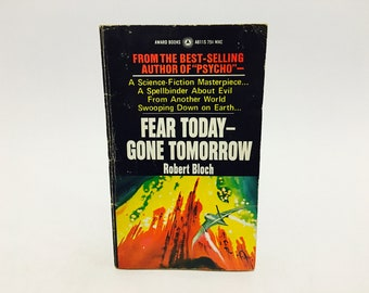 Vintage Sci Fi Book Fear Today - Gone Tomorrow by Robert Bloch 1971 Paperback