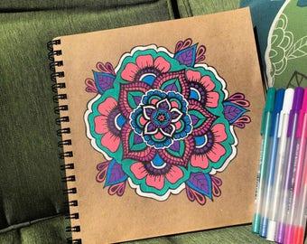 Pink wonders | mandala | hand draw