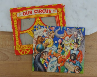 Vintage Our Circus Jigsaw Puzzle, Vintage Circus Decor, Puzzle for Framing, Small Jigsaw in Packaging, Philmar Puzzles A Grand Jigsaw