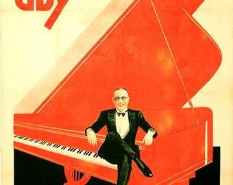 ¡ VENTA!  Cartel Vintage chico Armand - lo mundos más pequeño pianista - (39 x 55)