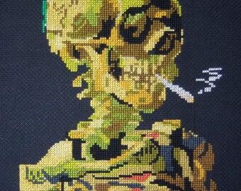 Van Gogh's Smoking Skull--LB11276