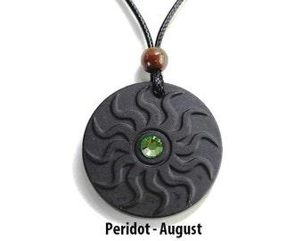 QP11 Dalimara Sun Quantum Pendant with Peridot August Swarovs Crystal