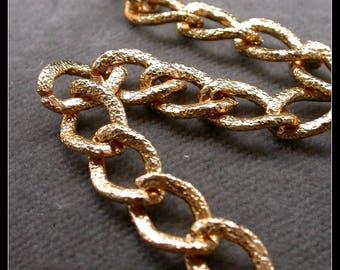 60cm color aluminum chain gold