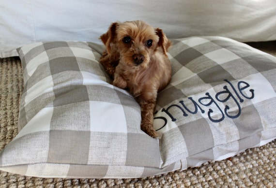 Buffalo Check Dog Bed Cover Plaid Pet Bed Cover Custom Dog
