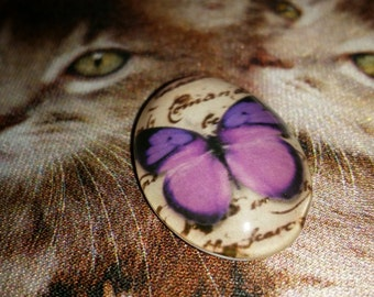 Butterfly Cabochon - Butterfly Pendant - 30mmx20mmx7mm - Qty 1 - Glass Cabochon - Butterfly - Cabachon finding - Glass pendant