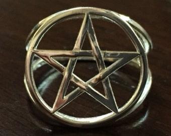 Pentacle ring - braided
