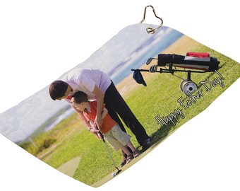 personalized golf towels, custom picture golf towels, picture towels, bar towels