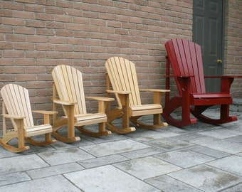 Youth Size Adirondack Rocking Chair Plans - DWG files for CNC machines