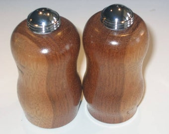 Bubinga salt & pepper shaker set