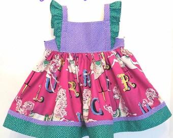 Girl Carousel Horse Dress, Girl Horses Dress, Baby Girl Carousel Horses Dress, Carousel Horse Dress, Baby Girl Horses Dress, Toddler Horses