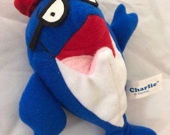 Plush Vintage Charlie The Tuna Bean Bag Doll