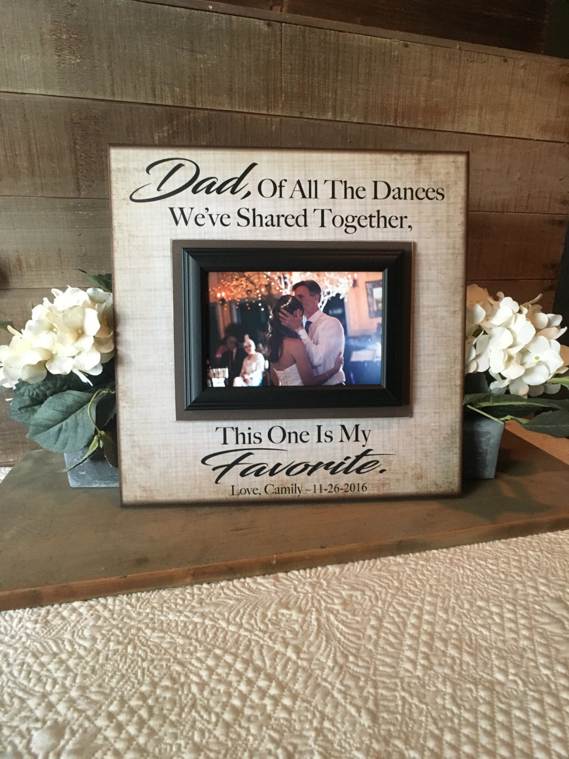 Father Daughter Dance Frame ~ Thank You Gift From Bride ...