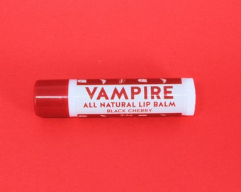 Vampire All Natural Lip Balm - Black Cherry Flavour