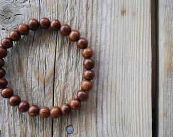 Madre de Cacao bracelet yoga bracelet wood bracelet mala beads meditation beads yoga beads yoga jewelry