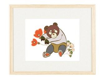 Little Teddy Bear Art | Bear Nursery Decor