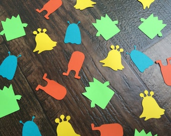 Lil Monsters Confetti Happy birthday Monster Party Decor Monster Birthday Party Monster Baby Shower Photo Prop Decorations