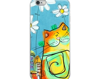 Cat iPhone Case, iPhone 6 and up Case