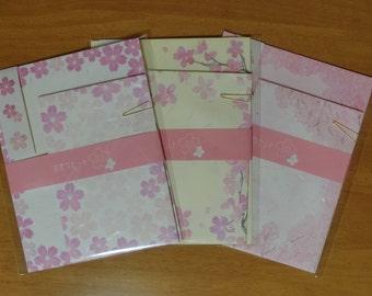 Japanese Washi letter set (Sakura 3types)