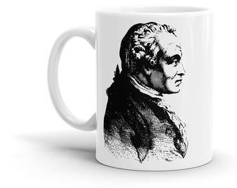 Immanuel Kant Coffee Mug - Philosophy, Philosopher, Hegel, Nietzsche, Descartes, Hume, Cool Gift