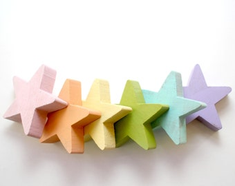 Star Stacking Set - Pastel Rainbow
